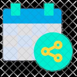 Share Calendar Icon