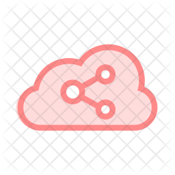 Share Cloud Colored Outline Icon