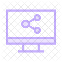Share device Colored Outline Icon
