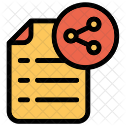 Share Document Icon Of Colored Outline Style Available In Svg Png Eps Ai Icon Fonts