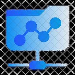 Share Folder Gradient Icon