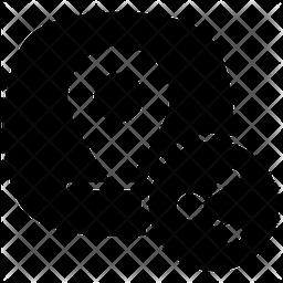 Share Location Glyph Icon