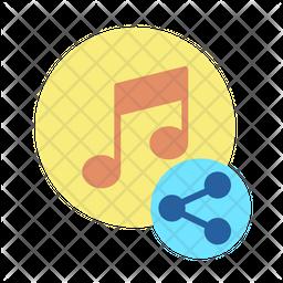 Share Music Icon