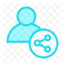Share User Colored Outline Icon
