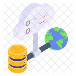 Shared Computing Isometric Icon
