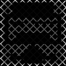Shared Printer Glyph Icon