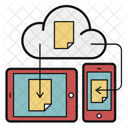 Sharing Cloud Data Icon