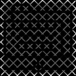 Sharing Folder Line Icon