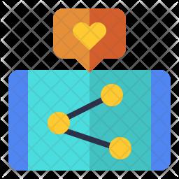 Sharing on social-media Flat  Logo Icon