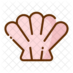 Shell Colored Outline Icon