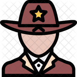 Sheriff, Law, Crime, Judge, Court, Police Icon