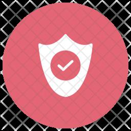 Shield Glyph Icon