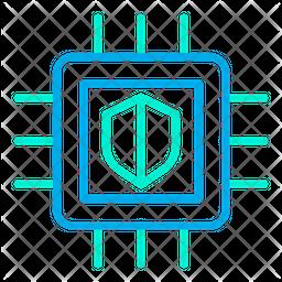 Shield Microchip Icon