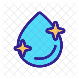 Shiny Water Drop Icon Of Colored Outline Style Available In Svg Png Eps Ai Icon Fonts