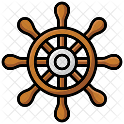 Ship Navigation Colored Outline Icon