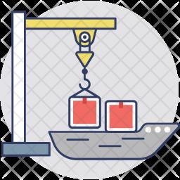 Shipping Crane Icon