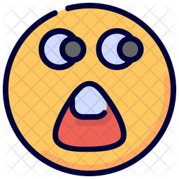 Shocked Colored Outline  Emoji Icon
