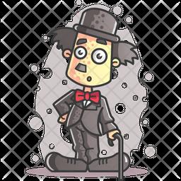 Shocked Charlie Chaplin Icon