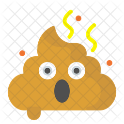 Shocked poo Emoji Icon