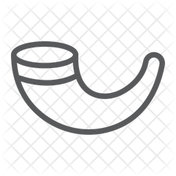 Shofar Line Icon