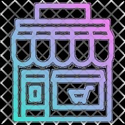 Shop Gradient Icon