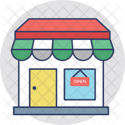 Shop Colored Outline Icon
