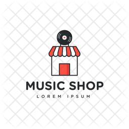 Shop Logo Colored Outline Icon