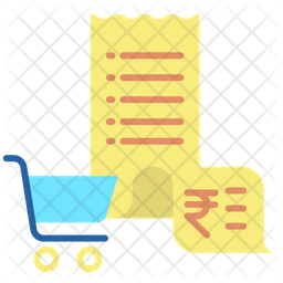 Shopping Bill In Rupees Icon