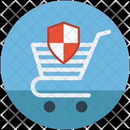 Shopping cart shield Icon