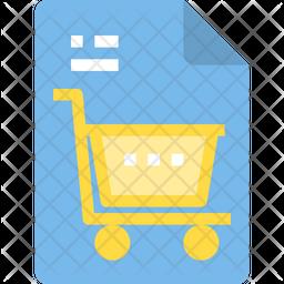 Shopping File Icon