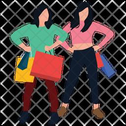 Shopping Girls Icon