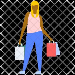 Shopping Lady Icon