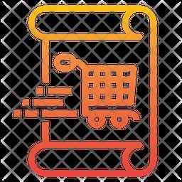 Shopping Receipt Icon