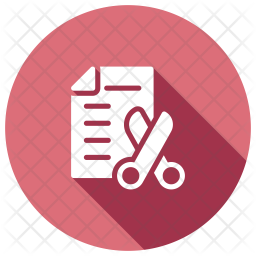 Shortlisted Resume Glyph Icon