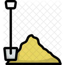 Shovel Colored Outline Icon