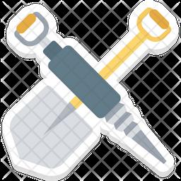 Shovel And Gimlet Icon