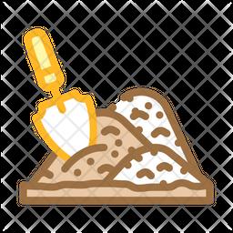 Shovel Heap Colored Outline Icon