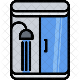 Shower Colored Outline Icon