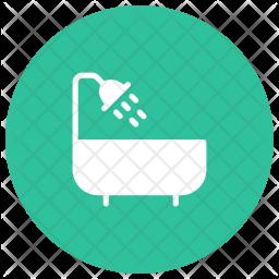 Shower Glyph Icon