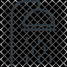 Shower Line Icon