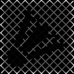 Shuttlecock Glyph Icon