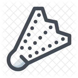 Shuttlecock Colored Outline Icon