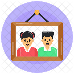 Siblings Photo Frame Icon