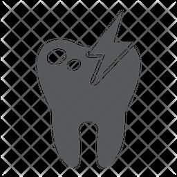 Sick Teeth Glyph Icon