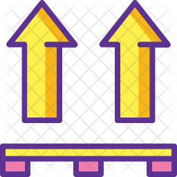Side Up Sign Icon