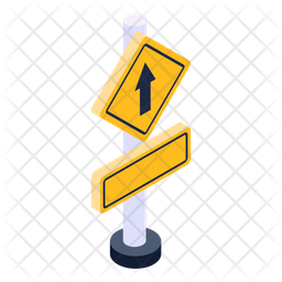 Sign Board Isometric Icon