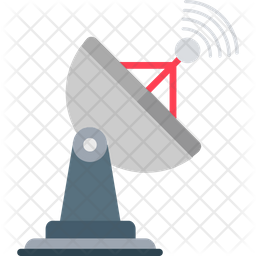 Signals Radar Flat Icon