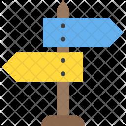 Signpost Flat Icon