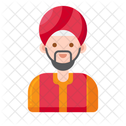 Sikh Man Icon