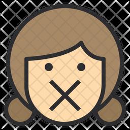 Silence Emoji Icon